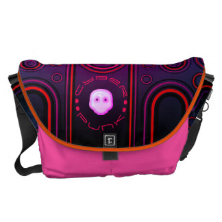 Purple Industrial Cyber Punk Robot Futuristic Courier Bag