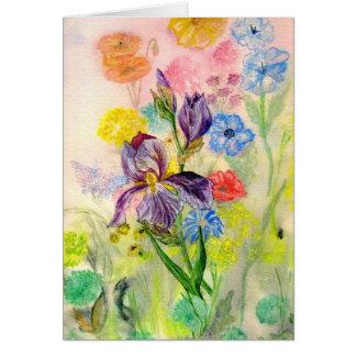 'Purple Iris' Card