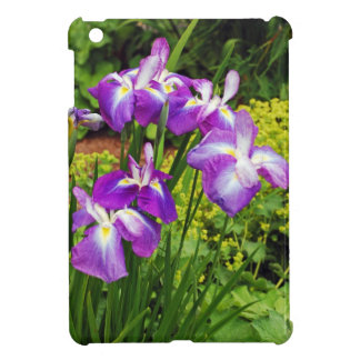 Purple iris flower garden cover for the iPad mini