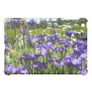 Purple Iris Garden iPad case