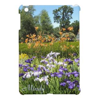 Purple Iris Garden iPad Mini Case *Personalize*