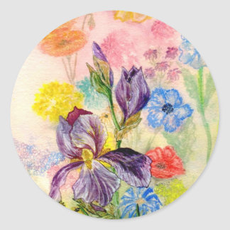 'Purple Iris' Sticker