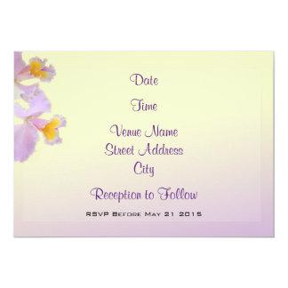 Purple Iris Themed Wedding Invite