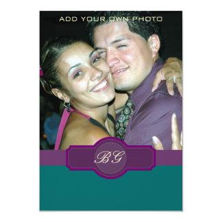 Purple Jade Wedding Invitations Monograms Photo