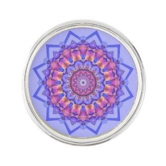 Purple Kaleidoscopic Motif Medallion Lapel Pin