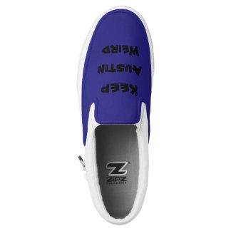 purple keep austin weird slip on shoes
