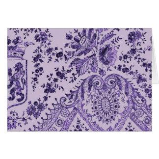 Purple Lace Flowers Card