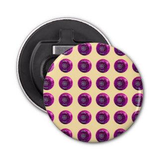 Purple_Lawn_Bowls_Pattern,_Magnetic_Bottle_Opener Bottle Opener