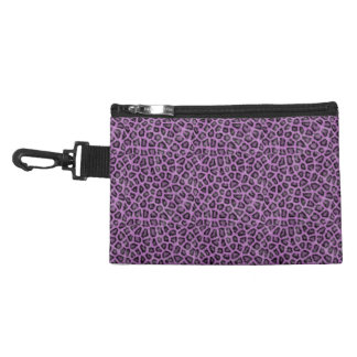 Purple leo print accessory bag