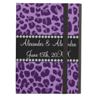 Purple leopard pattern wedding favors iPad air case