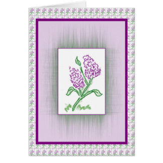 Purple-Lilacs Card