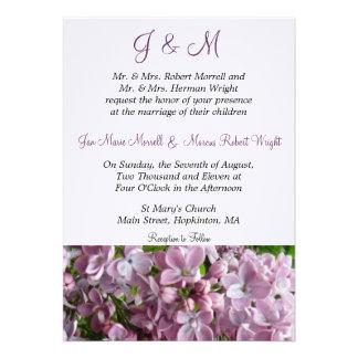 Purple Lilacs Wedding Invitation