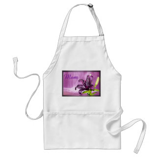 Purple Lily with Waterfall Apron