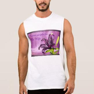 Purple Lily with Waterfall Sleeveless T-shirt