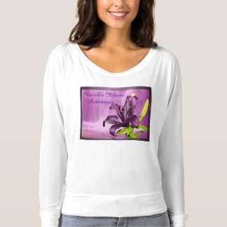 Purple Lily with Waterfall T-Shirt