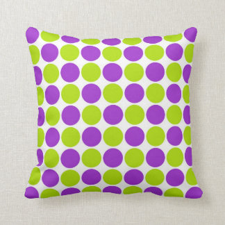 Purple & Lime Polka Dots Cushions