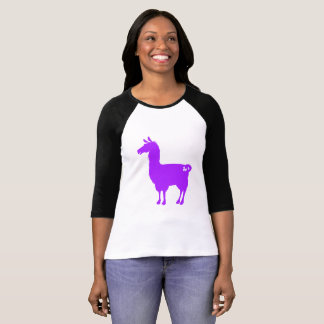 Purple Llama Ladies 3/4 T-Shirt