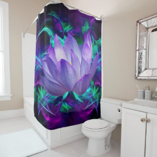 Purple lotus flower and its meaning shower curtain