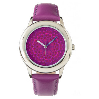 Purple Lotus Kaleidoscope Women's Watch