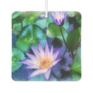 Purple Lotus Watercolor Car Air Freshener
