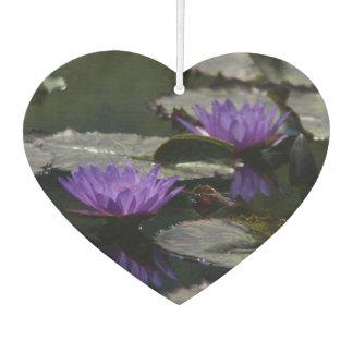 Purple Lotus Waterlily Car Air Freshener
