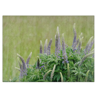 Purple Lupine Flowers Cutting Board
