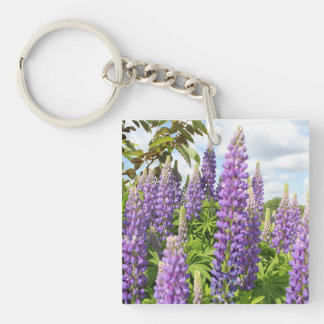 Purple Lupine Key Chain