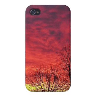 purple Magestic Sky iPhone 4 Cover