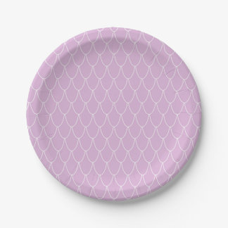Purple Mermaid Party Paper Plates