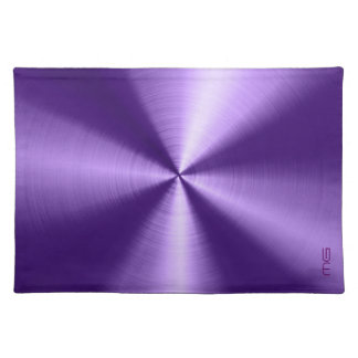 Purple Metallic Stainless Steel Look Placemat