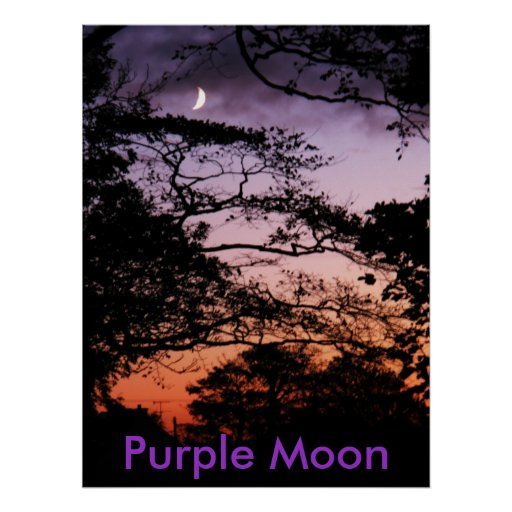 Purple moon posters