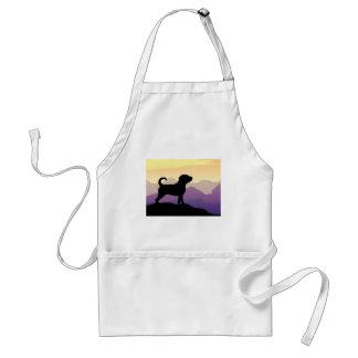 Purple Mountains Puggle Dog Standard Apron