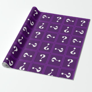 Purple mystery wrapping paper