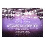 purple night & garden lights rustic wedding