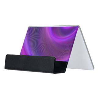 Purple night storm desk business card holder