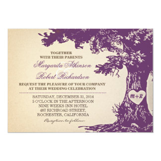 Purple Oak Tree Card