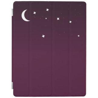 Purple ombre starry night sky iPad cover