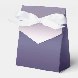 Purple Ombre Watercolor Dip Dyed Color Favour Box