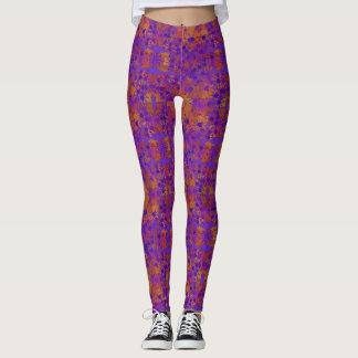 Purple Orange and Yellow Leggings