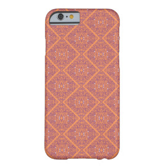 Purple Orange Damask Pattern - iPhone 6 Case/ Skin Barely There iPhone 6 Case