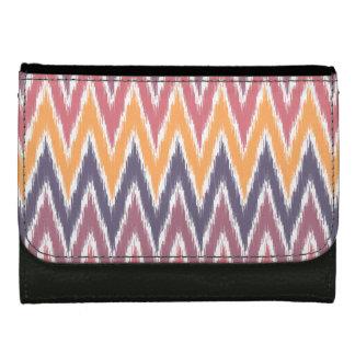 Purple Orange Ikat Chevron Zig Zag Stripes Pattern Wallets