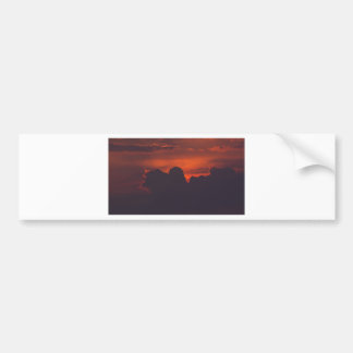 Purple orange sunset clouds bumper sticker