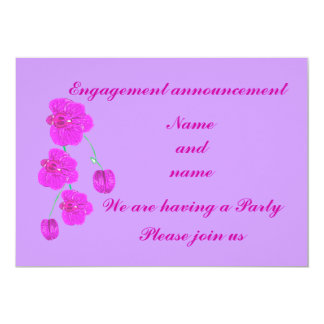 Purple Orchid Engagement Announcement RSVP Party