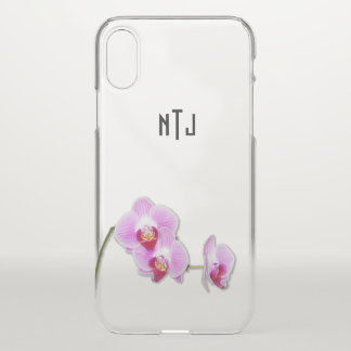 Purple Orchid Floral Photography - Clear BG iPhone X Case