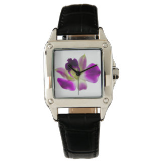Purple Orchid Woman Square Watch