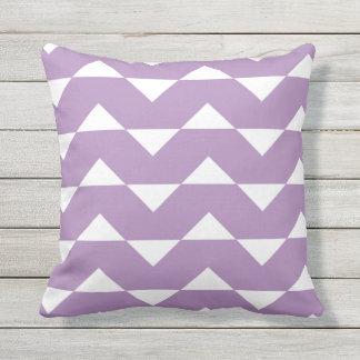 Purple Outdoor Pillows Chevron Pattern
