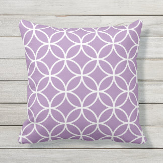 Purple Outdoor Pillows - Circle Trellis
