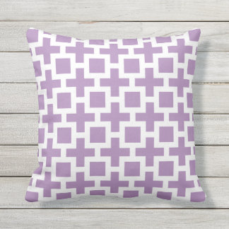 Purple Outdoor Pillows Squares Trellis
