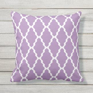 Purple Outdoor Pillows - Trellis Tile Pattern