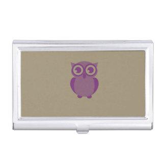 Purple Owl Business Card Holder